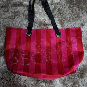 Victoria's Secret Striped tote bag | Sequined
